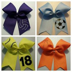 Check out this item in my Etsy shop https://www.etsy.com/listing/251193500/sports-bows-softball-bows-volleyball