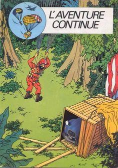"Brochure Tintin couverture "" l'aventure continue"""