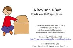 Prepositions are often a difficult concept to grasp without visuals or objects…
