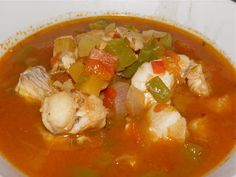 Caribbean Fish Soup.  1T oil, 1 med chopped onion, 2 minced garlic cloves,  1 green pepper, 1/2 jalapeno pepper, 4-5 cups vegetable or fish stock, 1 cup carrot,  1 celery rib, 2 med peeled tomatoes, 2T tomato paste, 1 bay leaf, 1/2 t allspice, 1/2t thyme, 2 lb fresh haddock fillets, 1T Worcestershire, 2 t hot pepper sauce,  2T light or dark rum, 1 t black pepper, juice of 1 lime