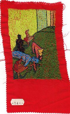 "#14 - 3.5"" x 5"" embroidery on silk, Michelle Kingdom"