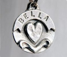 Dog Collar Tag  Personalized   Heart  Banner  by aaronalbrecht, $11.99