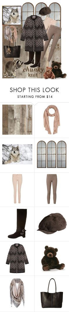 """""""Call of the Wild (and Not So Wild)"""" by kindlefraud ❤ liked on Polyvore featuring Tempaper, Ermanno Scervino, Uttermost, J Brand, L'Agence, Prada, Overland Sheepskin Co., M Missoni, Gund and Frye"""