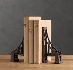 Golden Gate Bridge Bookends set of 2 $69 (comes in Brooklyn Bridge too)