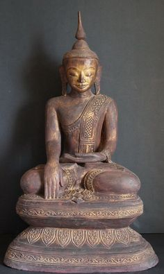 Image from http://goldentriangleantiques.com/wp-content/uploads/2012/06/Burmese-Shan-Hollow-Lacquer-Buddha-statue-2013.jpg.