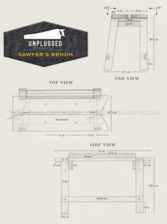 Sawyers Bench Plans - Woodworking Hand Tools Workshop Solutions