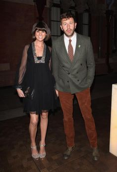 Dawn Porter and husband Chris O Dowd at the WilliamVintage dinner, looking gorgeous in 1970s Loris Azzarro!