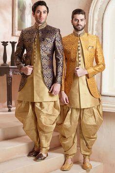 Desi Sarees Gar/çons Sherwani Kurta Pyjama Bollywood Party Porter Outfit 931