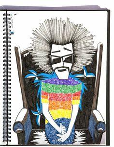 sketch book 1 by uttam sinha, via Behance