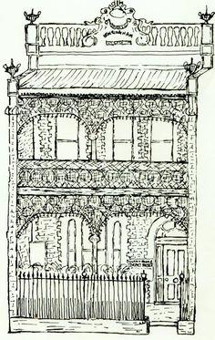 Syndet Terrace House Australian Architecture, Australian Homes, Victorian Terrace House, Victorian Homes, Pool Decks, My House, Floor Plans, Exterior, Prints