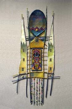 Floating Gardens Stick Sculpture South Western and Adirondack Weaving and Sculpture Gallery :: Adirondack Weaver Art Textile, Arte Popular, Assemblage Art, Weaving Art, Art Graphique, Felt Art, Art Plastique, Fabric Art, Medium Art