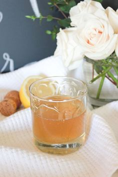 honey and rum champagne cocktail