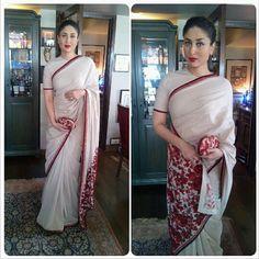 Kareena Kapoor Khan in a Sabyasachi saree and blouse.