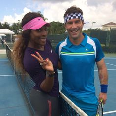 Pat Cash and Serena Williams #tennis #sport #patcash #serenawilliams