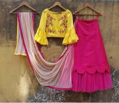 Exclusive beautiful pink Lehenga with readymade stitched ruffle blouse for wedding marraige function gift / lengha / lehenga choli by MaskeenStudio on Etsy WhatsApp us for Purchase & Inquiry : Buy Best Designer Collection from by Kids Lehenga, Indian Lehenga, Lehenga Choli, Sharara, Lehenga Skirt, Lehenga Blouse, Choli Designs, Lehenga Designs, Blouse Designs