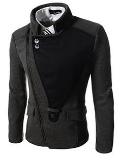 TheLees (DJK21) Mens Casual Rider Style Stretchy Slim Zipper Jacket Jumper Charcoal Chest 38(Tag size M) TheLees http://www.amazon.com/dp/B008S6YVJO/ref=cm_sw_r_pi_dp_uMqowb198EEZR