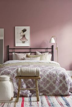 couleur peinture chambre - rose-poudré-romantique