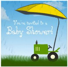 Tractor Baby Shower Invitations -- Customizable Tractor Baby Shower Invites