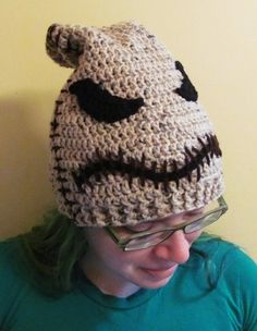 Oogie Boogie Hat, Crocheted Beanie inspired by Nightmare Before Christmas, Custom any size | HatsandSpats - Accessories on ArtFire by Kapi