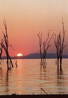 Sunset on Lake Kariba - Lake Kariba, Mashonaland West