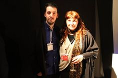 Inauguración Adesign Santander 2016. espacio Ricardo Lorenzo. Bruno con Marga Garcia