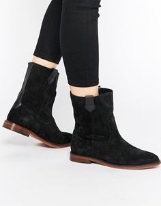 Shop H by Hudson Hanwell Suede Calf Boots at ASOS Shoes for Sale  Womens