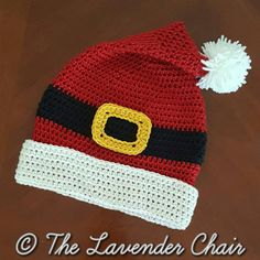 Santa Hat - Free Crochet Pattern - The Lavender Chair