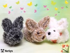 Strick - Komplettset Easter Crochet Patterns, Fast Crochet, Funny Presents, Craft Tutorials