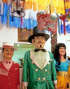 the famous giant dolls of olinda, pernambuco, during carnival