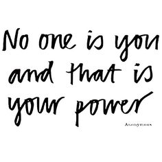 You've got the power Lexie Lane.  You are special.....you are you and I love you!!!! xoxoxo