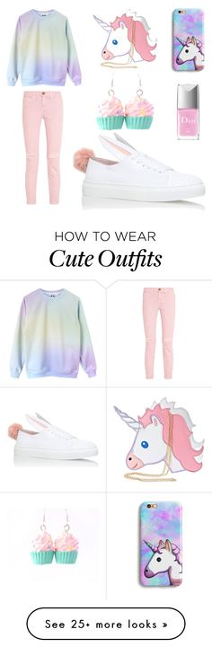"""My First Polyvore Outfit"" by bolotova-02 on Polyvore featuring Nila Anthony, Current/Elliott, Minna Parikka and Christian Dior"