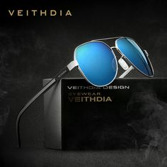 81725b9b962 VEITHDIA Sun Glasses Polarized Blue Coating Mirror Classic Men s Sunglasses  Oculos de sol Male Eyewear Accessories