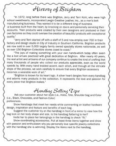 Brighton History and Selling Tips