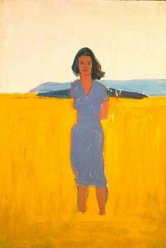 Alex Katz : 'Ada in a Purple Dress' 1958 Figure Painting, Painting & Drawing, Painting Inspiration, Art Inspo, Pop Art, Modern Art, Contemporary Art, Alex Katz, Arte Pop