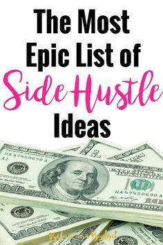 If you want to side hustle or increase your income, this totally helpful list will help you start making more money today. This blogger has tried over 35 different ways to make extra money.