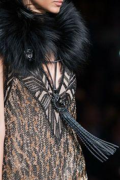 Roberto Cavalli fashion details, Fall 2014 RTW, Milan <3<3