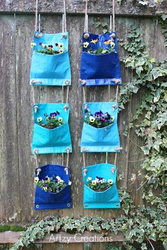 Duck tape plant pockets -- seems like something I could do at my current apartment on the balcony
