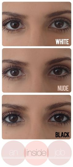 Color your lower waterline in with a white eye pencil to brighten your eyes.