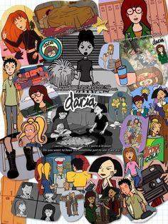 cartoons collage its daria! Daria Tv Show, Daria Mtv, Daria Morgendorffer, New Wallpaper, Cartoon Wallpaper, Iphone Wallpaper, Daria Quotes, Cartoon Background, A Cartoon