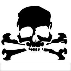 12.7*10.5cm car stickers Skull Cross Bones Pirate cartoon JDM car window car body Motorcycle Helmet Vinyl Decal Black/Silver