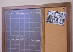 "This multipurpose organization station combines our popular two month ""Chalkboard"" calendar and a cork bulletin board."