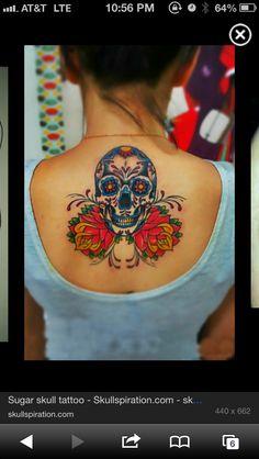 candy skull tattoo ideas