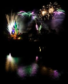 Here are a few Disney fireworks to start the new year!     - Orlando, Florida     - Photo from #treyratcliff Trey Ratcliff at http://www.StuckInCustoms.com