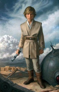 Anakin Padawan /by Patricia Watwood #StarWars #art