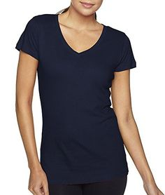 Next Level Womens The Sporty V-Neck 3400L-Midnight Navy-X-Larg