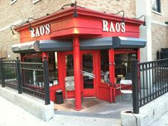 RAO'S NYC. ~ The quintessential old school red sauce Italian restaurant. The hardest reservation to get in the city. Veal Cutlet, I Chef, Help The Poor, What Recipe, Homemade Marinara, American Restaurant, Red Sauce, Take Out, Meals For One