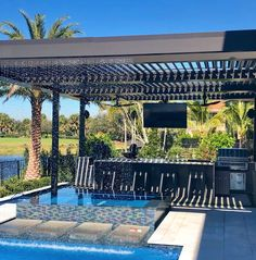 StruXure, the maker of the away winning modern day pergola, Pergola X, has provided thousands of systems throughout the word. View our gallery of work. Pergola Cost, Garage Pergola, Wooden Pergola, Pergola Shade, Pergola Patio, Backyard Patio, Backyard Ideas, Patio Roof, Pergola Ideas