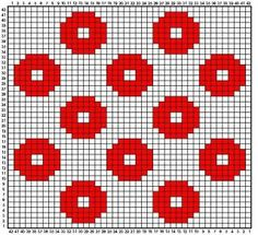 Option For Tiled Quilt - Knitting - Fo Option - Diy Crafts - Qoster Tapestry Crochet Patterns, Crochet Stitches Patterns, Crochet Chart, Crochet Motif, Cross Stitch Patterns, Knitting Patterns, Beading Patterns, Punto Fair Isle, Knitted Mittens Pattern