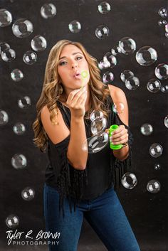 Emily Chandler - El Dorado High School - Arkansas - Senior Pictures - Class of 2015 - Bubbles - Studio - Senior Portraits - #seniorpics - Ideas for Girls - Picture Perfect - @neeneestiles - Black Background - Frisco, Texas - Tyler R. Brown Photography