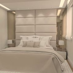 The dream room of several couples! We are pleased about this project (the Hotel Bedroom Design, Home Room Design, Bedroom Inspo, Living Room Designs, Dream Bedroom, Home Bedroom, Modern Bedroom, Bedroom Decor, Master Room